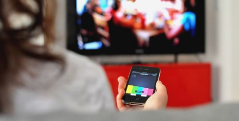 IntoNow iPhone app in use