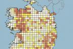 Radon gas map of ireland