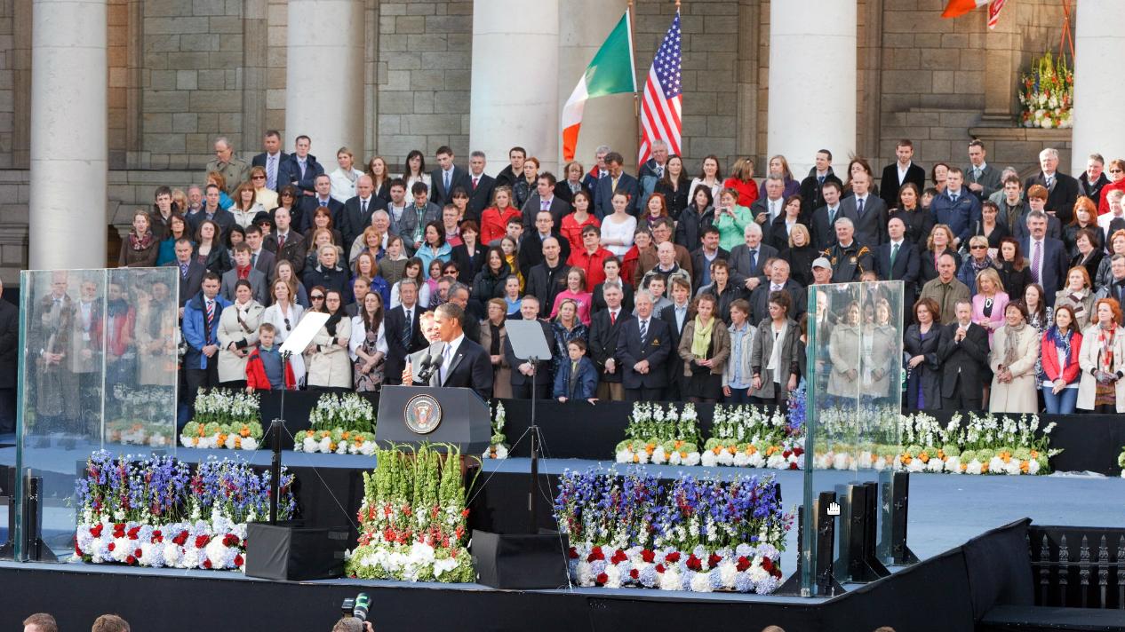 Obamas speech in college green