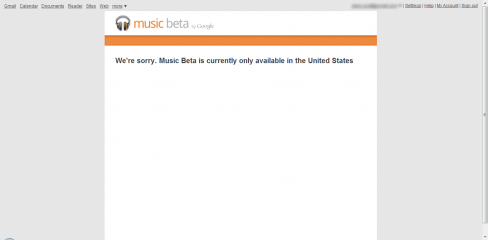 Google Music USA only