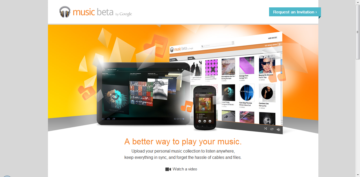 Google Music homepage