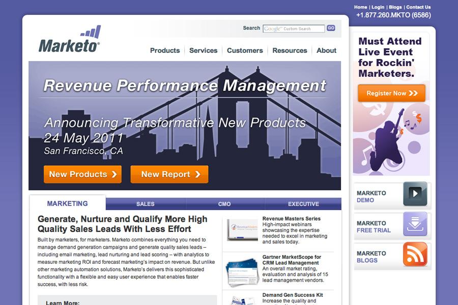 Marketo website