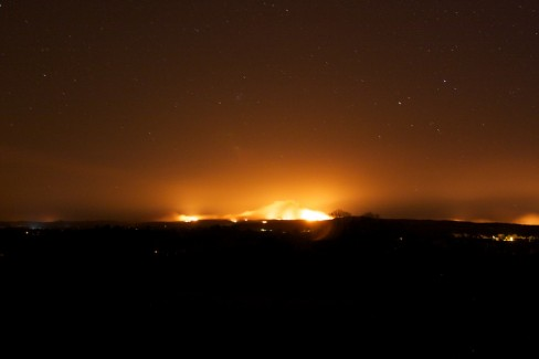 Gorse fire continue through the night where Monaghan, Tyrone and Fermanagh meet