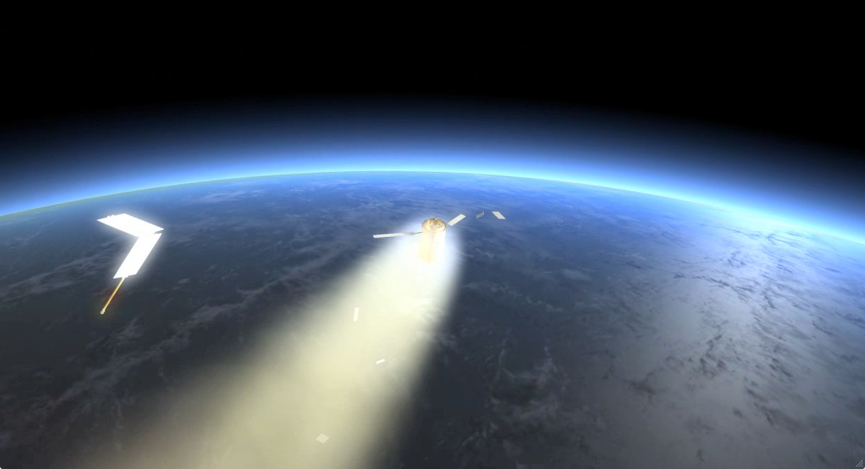 ESA's artist impression of the Kelper ATV re-entry