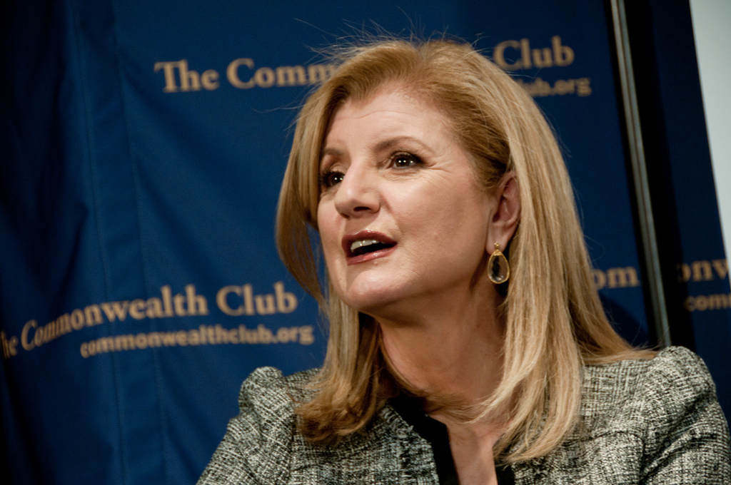 Arianna Huffington, editor of Huffington Post Media Group. Credit: jdlasica on Flickr