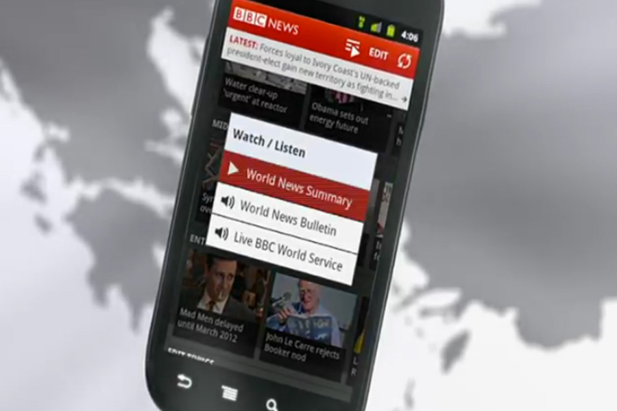 BBC News Android app available worldwide from today