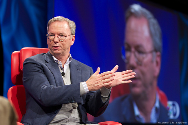 Google Executive Chairman Eric Schmidt. Credit: AllThingsD.com