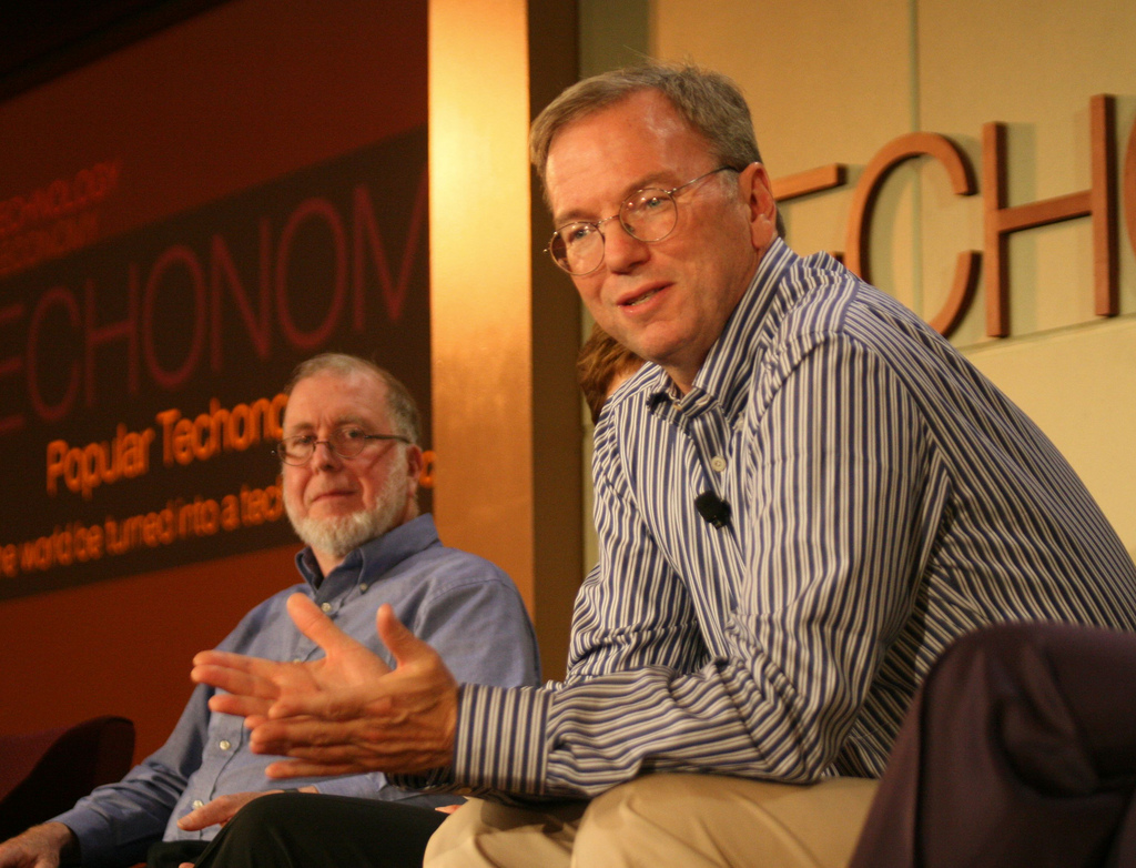 Google's executive chairman Eric Schmidt. Credit: dsearls on Flickr