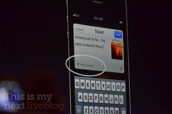 Twitter integration in iOS 5. Credit: This is my next