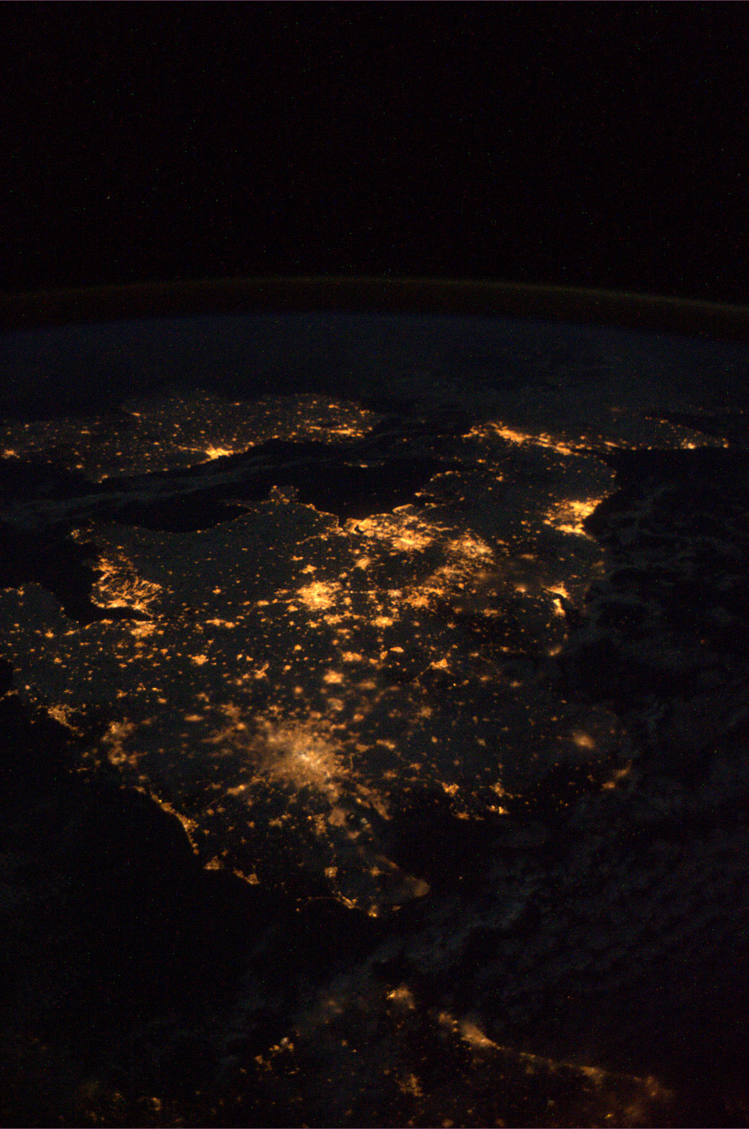 Ireland and the UK as seen from the ISS. Credit: ESA/NASA