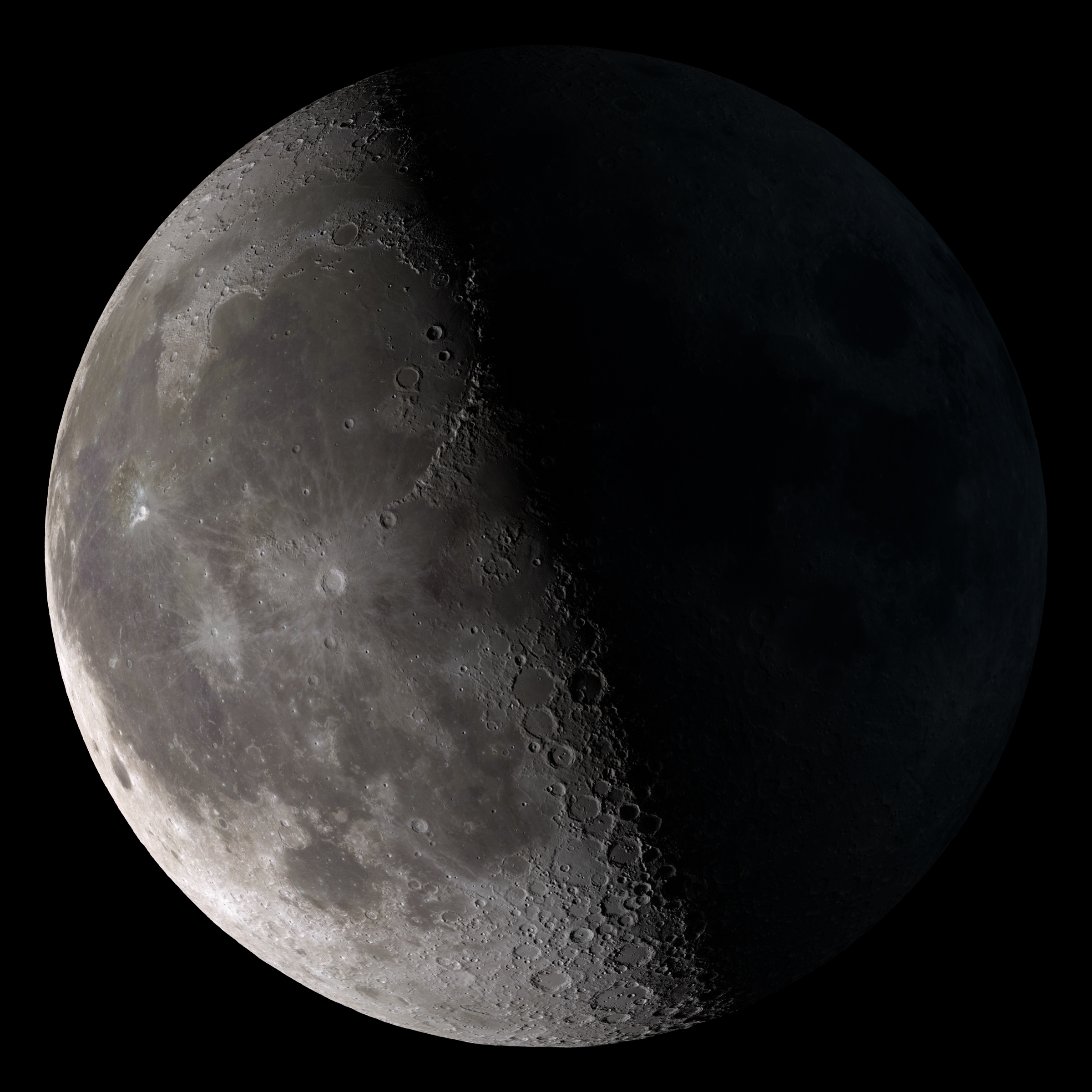 The Moon in its Third Quarter Phase