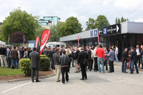 #dws6 attendees enjoying the BBQ outside the RDS