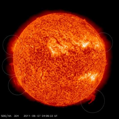 A massive solar flare that occurred on June 7th, 2011. Credit: NASA