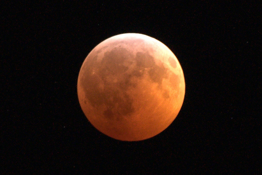 Image of last total lunar eclipse which occurred in December 2010