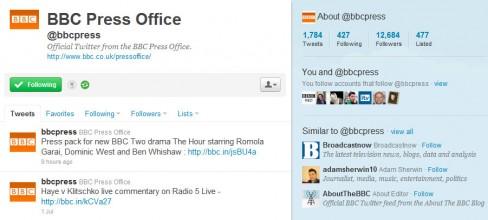 BBC press office on Twitter