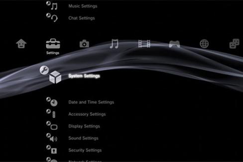 Current PlayStation 3 XMB