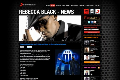 Rebecca Black marries R. Kelly