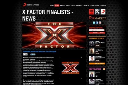 X Factor lowers ones' IQ (although this one may be true)