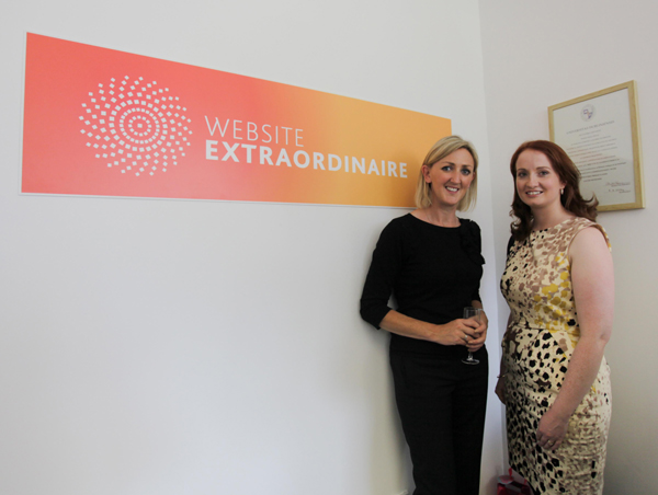 Joan Mulvihill of the Irish Internet Association with Beatrice Whelan MD of Website Extraordinaire