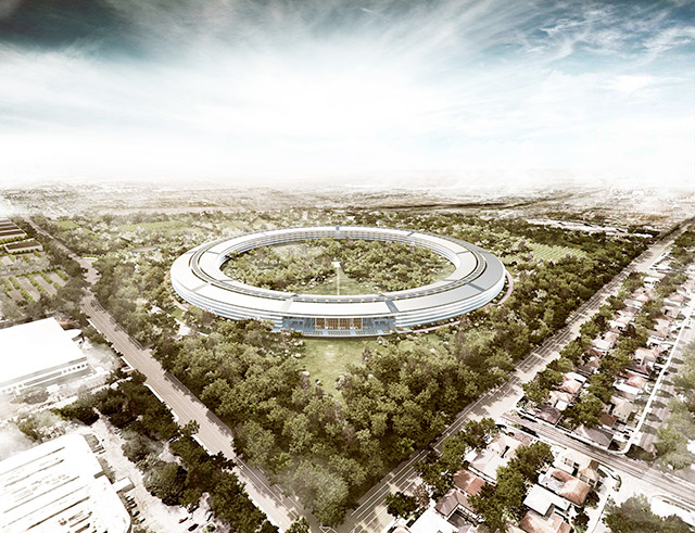 Apple's planned iconic HQ in Cupertino, California