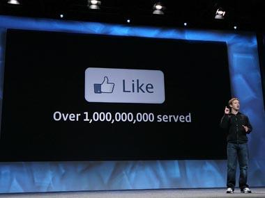Facebook CEO Mark Zuckerberg on stage