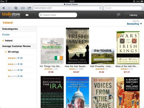 Kindle Cloud Reader screenshot