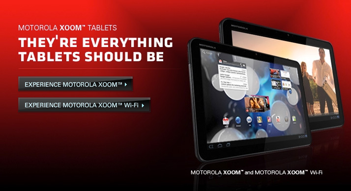 Motorola manufacture the Android-powered Zoom tablet