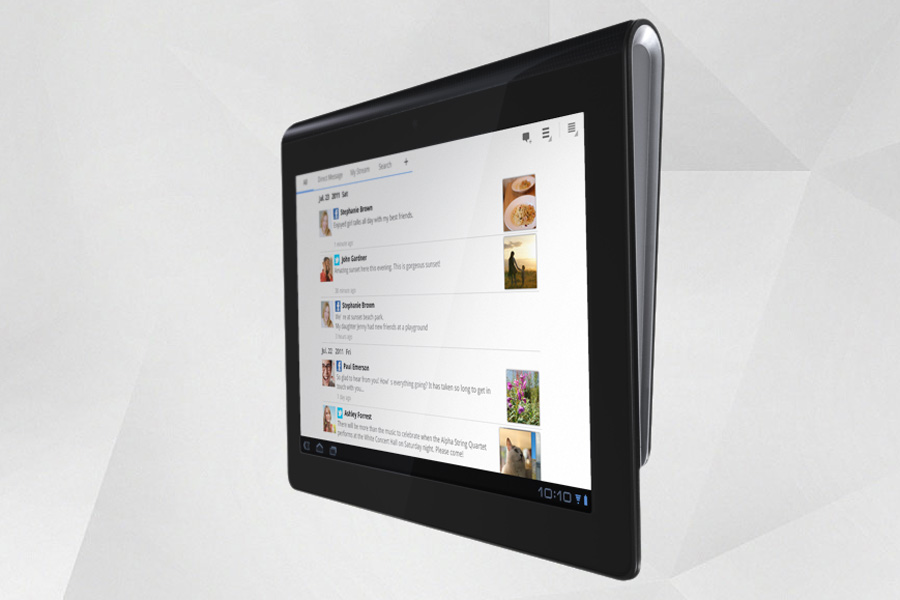 The Tablet S will be the first Sony tablet available this September, most likely at €499