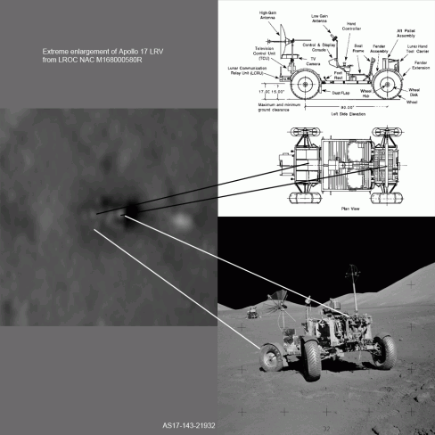 Lunar Buggy see by NASA's Lunar Reconnaissance Orbiter Camera