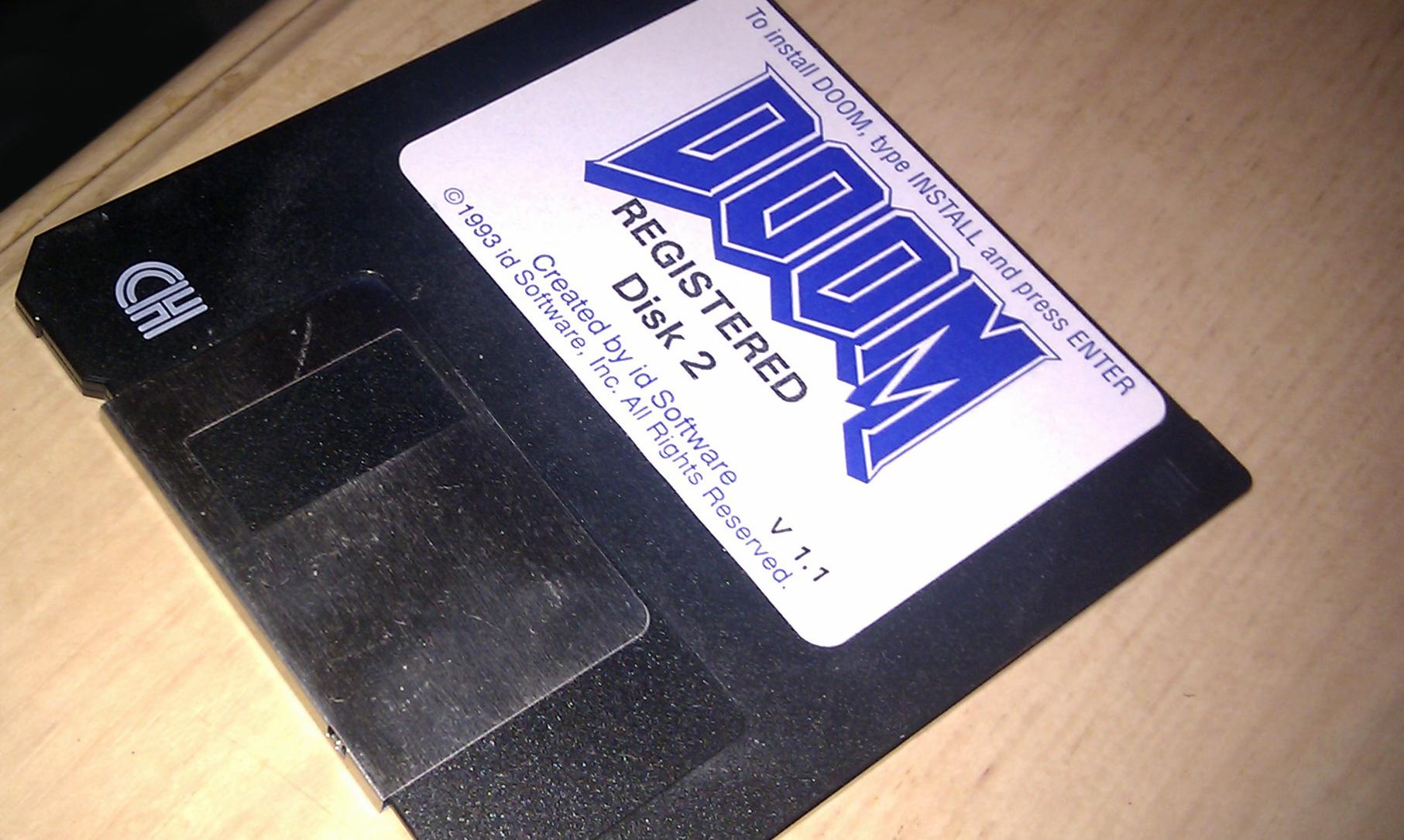 Classic Doom instillation floppy disk