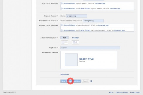 4. Click on Save Changes and Next near the bottom of the page.