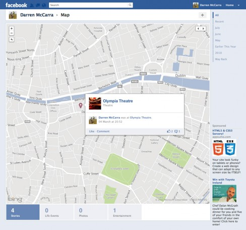 Maps on Facebook
