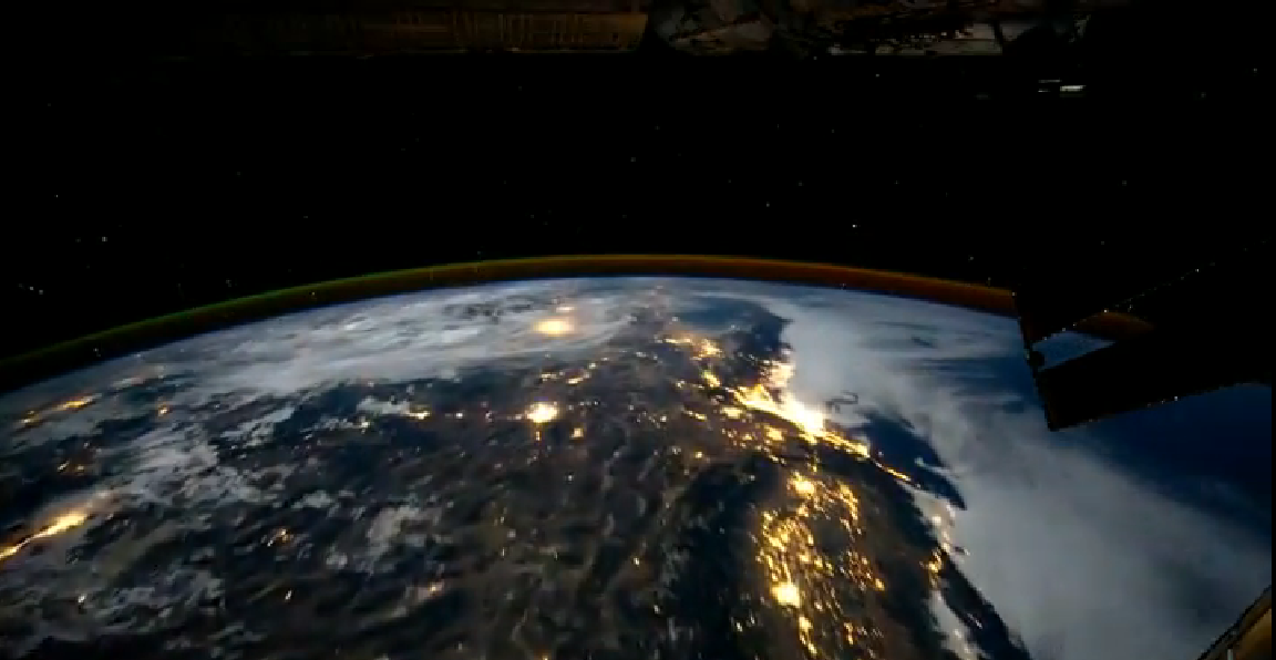The International Space Station Looking Down on Earth