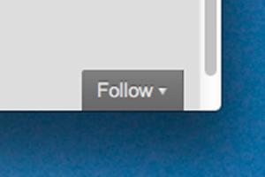 WordPress Follow button