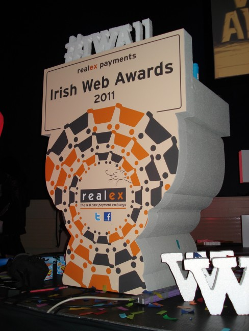 The Irish Web Awards' Podium