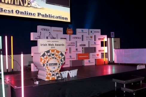 The Irish Web Awards Stage