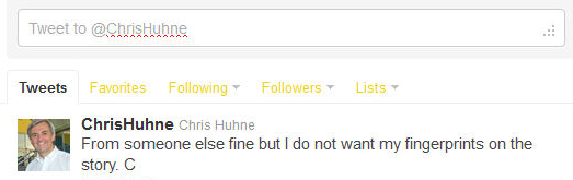 Huhne deleted his tweet but not before people took screenshots of it.
