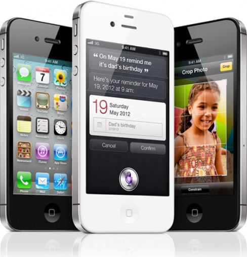 The new iPhone 4S with voice-controlled assistant Siri