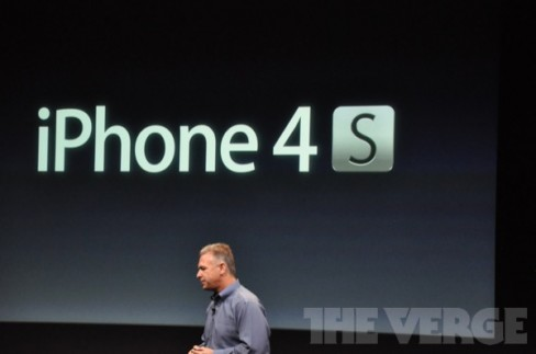Apple's Phil Schiller speaking at the iPhone event in Cupertino this evening