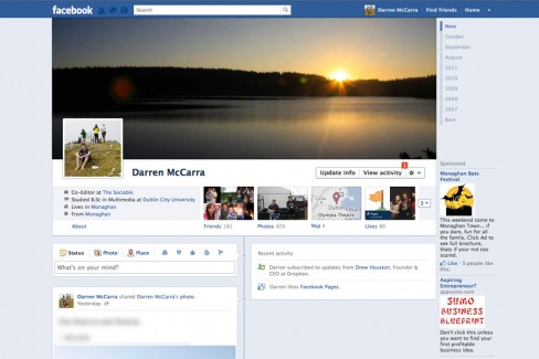 I've been using the new Facebook Timeline since day one - September 22nd