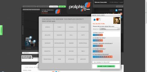 Proliphiq user tagging