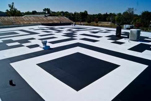 The world's largest QR code in Charlotte, North Carolina