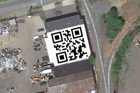 The world's largest QR code - Southern Resources recycling from above