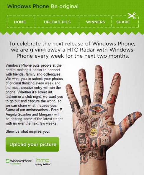 Windows Phone HTC Radar competition
