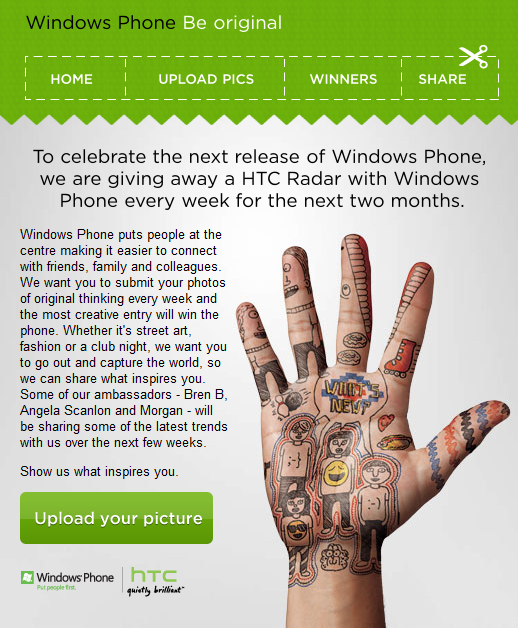 Windows Phone HTC Radar competition