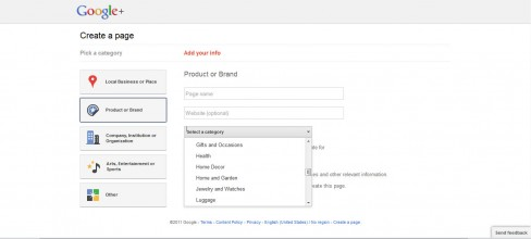 Google Pages signup