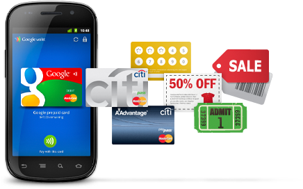 Google Wallet on Android OS
