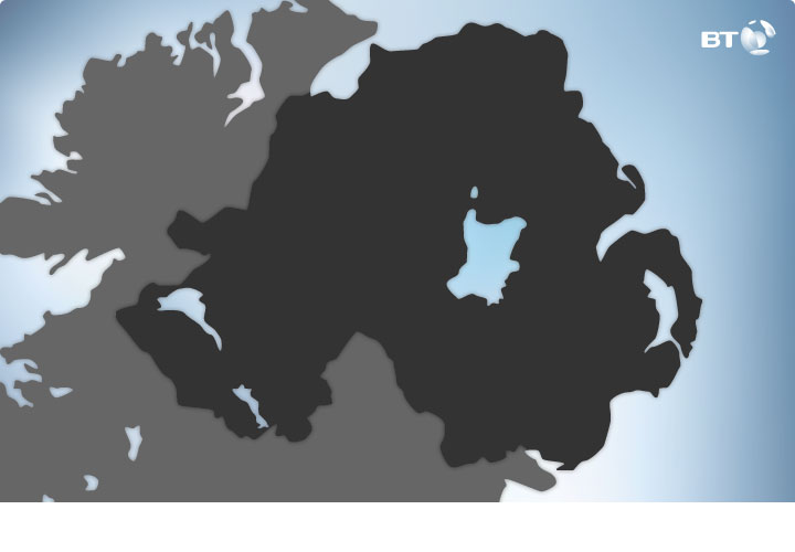 BT - Northern Ireland map