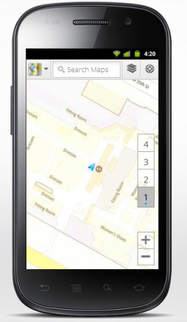 Google Indoor Maps on an Android smartphone