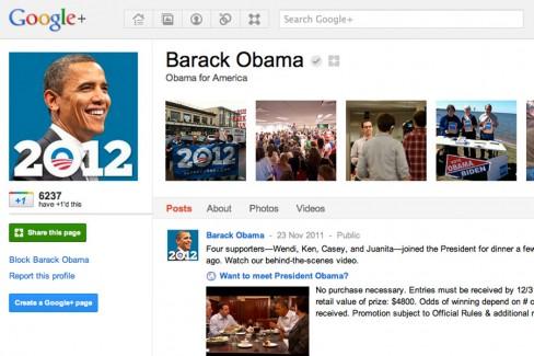 Obama 2012 campaign joins Google+